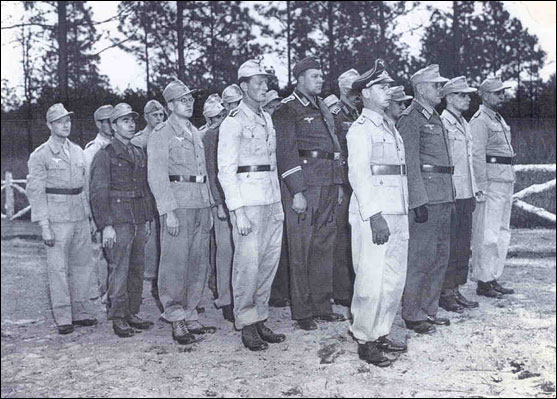 German POWs in Uniform Camp Shelby MS